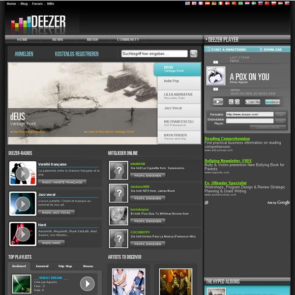 UX Timeline | Deezer | Back to the past!