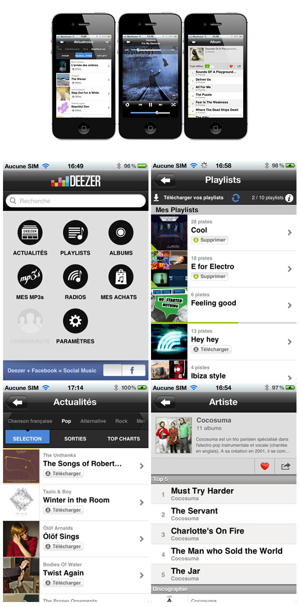 iphone deezer 2012