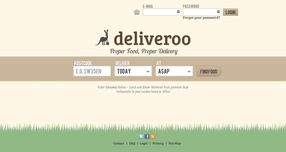 homepage deliveroo 2013