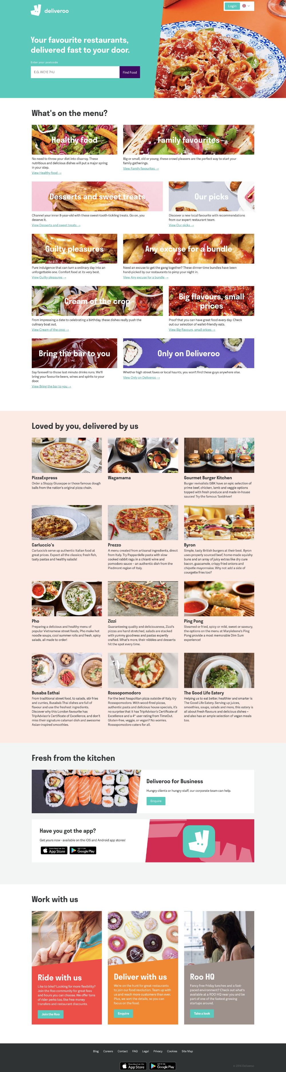 homepage deliveroo 2016