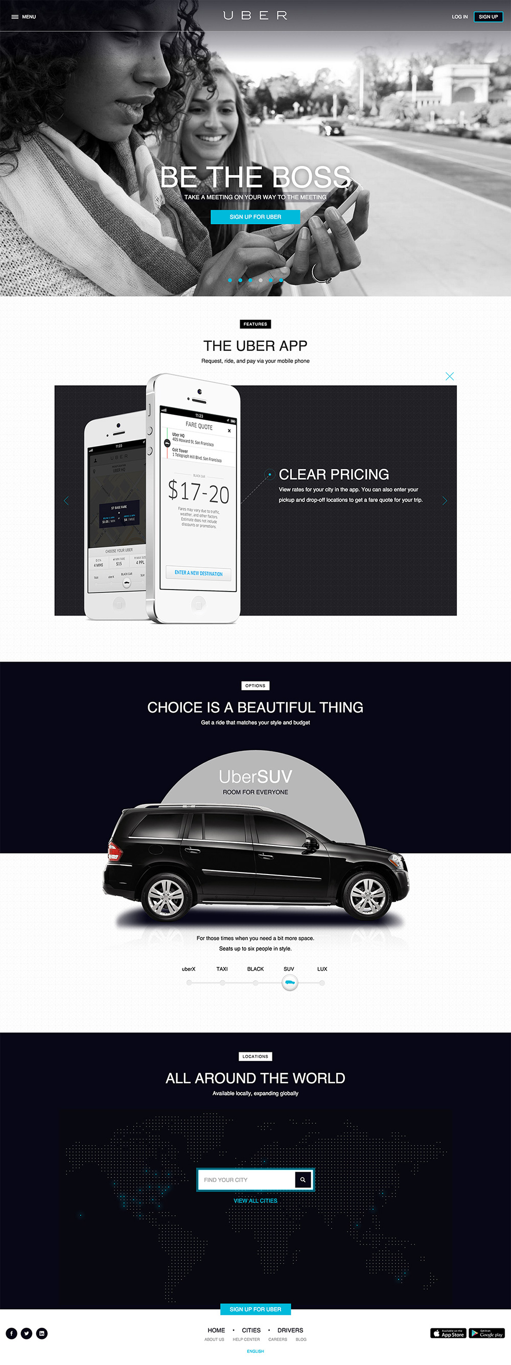Ux Timeline Uber Back To The Past