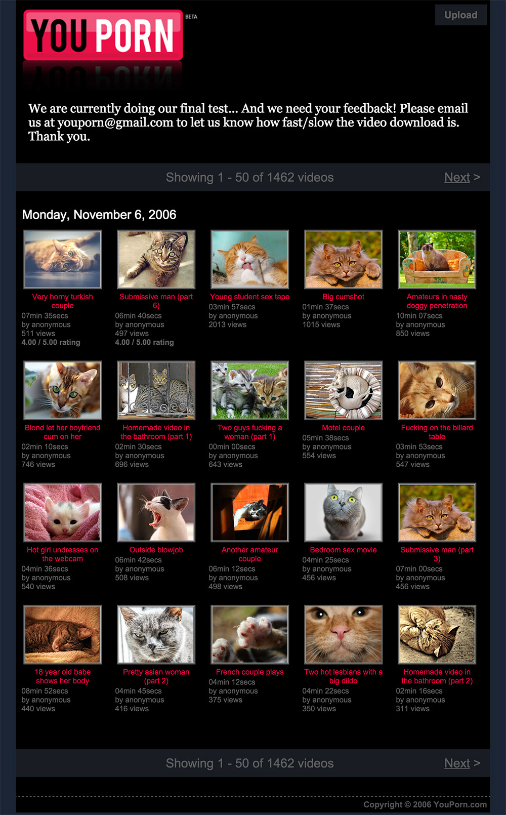 homepage youporn 2006
