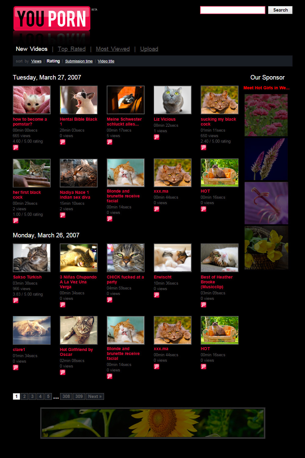 homepage youporn 2007