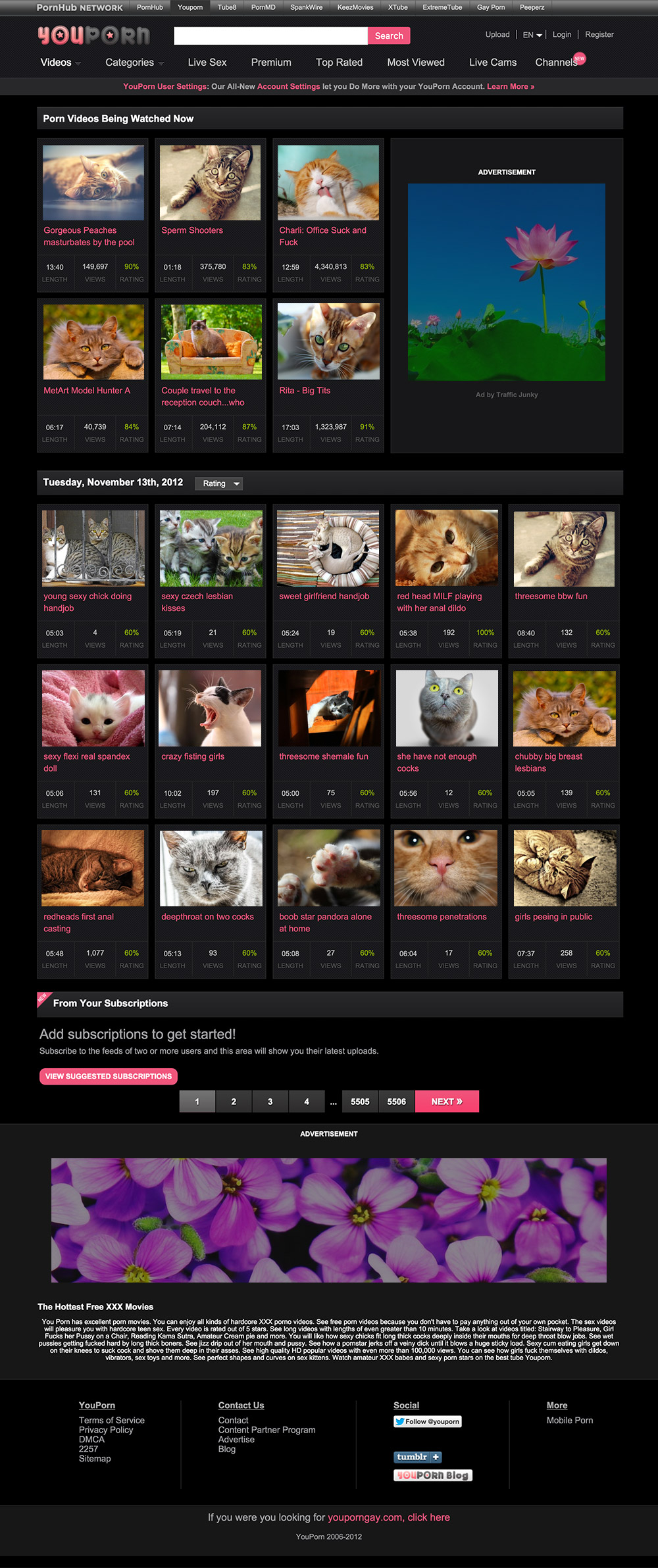 homepage youporn 2012